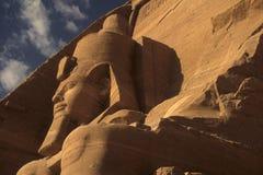 Rameses II colossus, seated figure. Egyptian pharaoh,Abu SimbelEgypt stock images