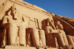 Rameses II Temple in Abu Simbel, Egypt. Stock Images