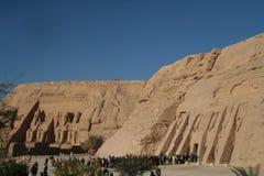 Rameses och Nefertari tempel på Abu Simble arkivbilder