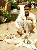 Ramesh The Snake-Charmeur Goa Indien Stockfotografie