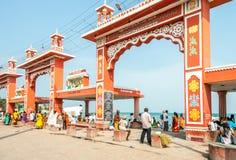 Rameshwaram Beach Gate Stock Photo