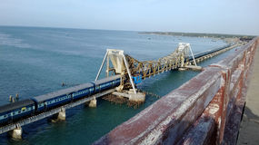 Rameshwaram bro Arkivfoton
