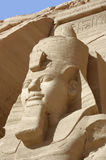 Ramesses at Abu Simbel temples. Architectural detail of the historic Abu Simbel temples in Egypt (Africa) showing the head of Ramesses 2nd Stock Photos