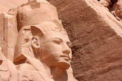 Ramesses II in Abu Simbel royalty-vrije stock foto's