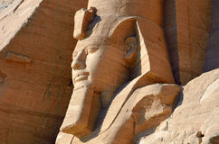 Ramesses II statue. At Abu Simbel Temples in Egypt Royalty Free Stock Image