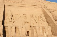 Ramesses II Temple Facade Stock Photos