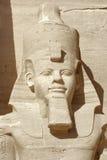 Ramesses portret przy Abu Simbel świątyniami Zdjęcia Royalty Free