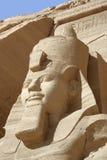 Ramesses przy Abu Simbel świątyniami Zdjęcia Stock