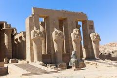 Ramesseum寺庙在卢克索-埃及 免版税库存照片