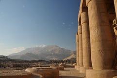Ramesseum amd desert Stock Photos