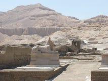 Ramesseum is de herdenkingstempel van Farao Ramesses II Royalty-vrije Stock Foto's