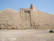 Ramesseum is de herdenkingstempel van Farao Ramesses II Stock Foto