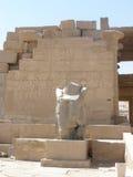 Ramesseum is de herdenkingstempel van Farao Ramesses II Stock Afbeelding