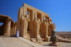 The Ramesseum in Egypt Royalty Free Stock Images