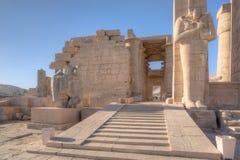 Ramesseum tempel i Luxor Arkivbild