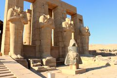 Ramesseum temple, Egypt Stock Images