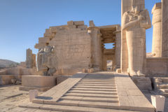 Ramesseum temple in Luxor Stock Photography
