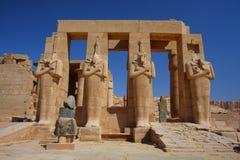 Ramesseumen i Egypten Arkivbilder