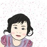 ramflicka little royaltyfri illustrationer