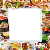 Ramfoto av mat Fotografering för Bildbyråer