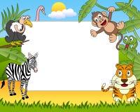 ramfoto för 2 afrikanskt djur Arkivfoton