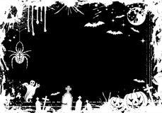 ramgrunge halloween vektor illustrationer