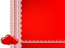 ramhjärtor snör åt royaltyfri illustrationer