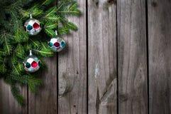 Rami con le decorazioni di Natale Fotografia Stock Libera da Diritti