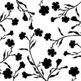 Rami di albero con le foglie ed i fiori Immagini Stock Libere da Diritti