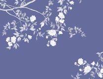 Rami dipinti a mano e rami dei fiori e fiori dipinti a mano fotografie stock libere da diritti