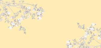 Rami dipinti a mano e rami dei fiori e fiori dipinti a mano fotografie stock