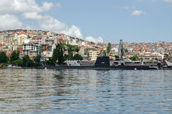 Rami M Koc Museum viewed across the Golden Horn, Istanbul Stock Photo