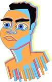 Rami Malek-kleurengezicht stock illustratie