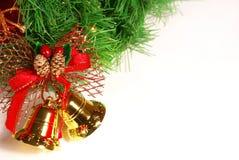 Ramificación aislada del árbol de Navidad Imagen de archivo libre de regalías