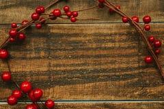 Ramificación de la Navidad con las bayas rojas Fotografía de archivo libre de regalías
