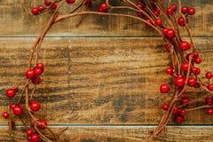Ramificación de la Navidad con las bayas rojas Imagen de archivo