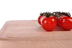 Ramificación de tomates Imagen de archivo libre de regalías