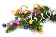Ramificación del árbol de navidad Imágenes de archivo libres de regalías