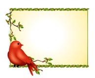 Ramificación del acebo del pájaro del invierno stock de ilustración