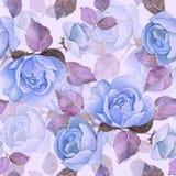 Ramificación floral Modelo inconsútil 15 de la acuarela Foto de archivo