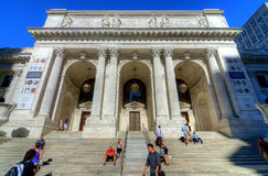 Ramificación principal de la biblioteca pública de New York City Fotos de archivo libres de regalías