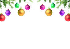 Ramificaciones con un juguete de la Navidad imagenes de archivo