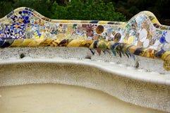 Ramificaciones de cerámica de Guell del parque Fotografía de archivo