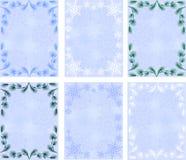 Ramificaciones del invierno backgrounds.snowflakes.pine Fotografía de archivo