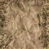 Ramificaciones sucias del bambú del fondo Imágenes de archivo libres de regalías