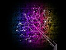 Ramificar para fora fundo significa a saída e o Internet de dados Imagens de Stock Royalty Free