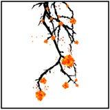 Ramifique com flores ilustração royalty free
