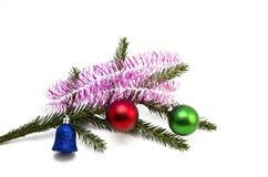 Ramifique con los juguetes de la Navidad Fotos de archivo libres de regalías