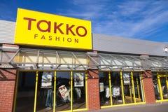 Ramifique de tiendas de la moda de TAKKO Fotos de archivo libres de regalías