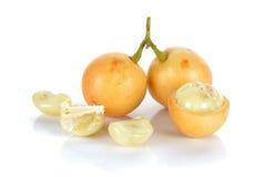 Ramiflora di Baccaurea o di Mafai isolato su fondo bianco Immagini Stock Libere da Diritti